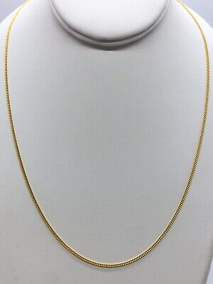 """24k Solid Pure Yellow Gold Flexible Cuban Necklace 18"""" Inches Weight 4.70 Grams"""