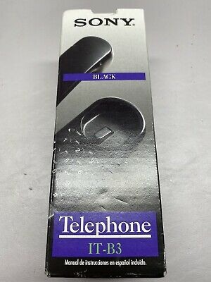 Vintage Sony Telephone IT-B3 (Black) Old Stock Brand New In Box