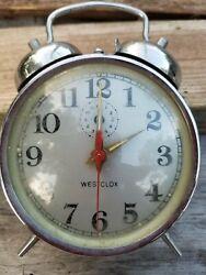 Alarm Clock Vintage Retro Dual Bell Night Silent Pointer Bedside Loud Home Decor