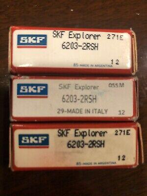 3 Skf Explorer 6203-2rsh Ball Bearings