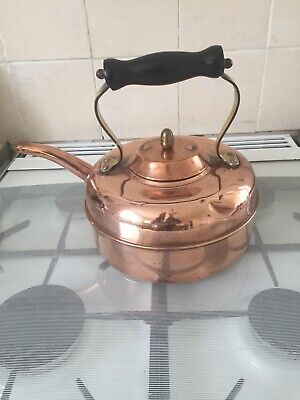 Vintage Copper Kettle 'Linaglow' Camping, Farmhouse, Barge Etc -4 Pint Capacity