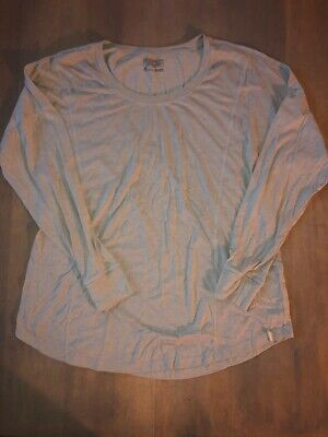 PATAGONIA LONG SLEEVE TEE Grey Layer Size -