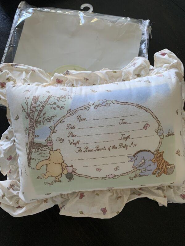 NEW Classic Pooh Keepsake Pillow Winnie the Pooh Baby Nursery Birth Announcement
