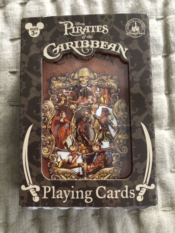 NEW Disney Parks Pirates of Caribbean Deck of 52 Playing Cards Captain, Redhead