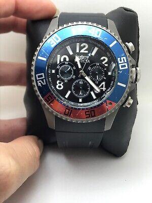 Invicta Men's 'TI-22' Quartz Titanium Polyurethane Watch 22456 BAD CRYSTAL-H1