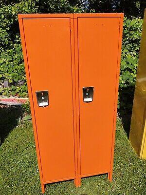 Hallowell Orange Locker Bank Of 2 20 D X 30 W X 66 H Brand New