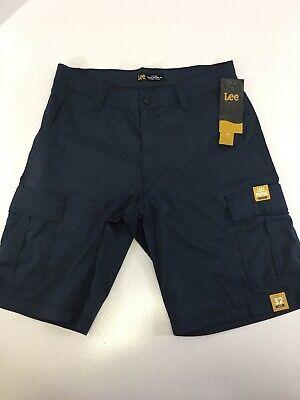 7 Pocket-cargo-shorts (Lee Mens Lightweight 7 Pocket Cargo Shorts Color Navy Blue Heather Size 32 NWT)