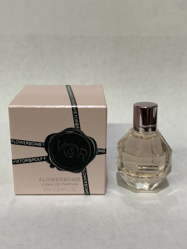 Flower Bomb L'eau De Parfum By Viktor&Rolf 0.24 Oz/7 Ml Mini. New In Box