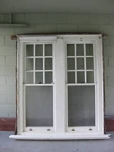 GREAT LARGE  SOLID TIMBER TWIN DOUBLE HUNG SASH WINDOW 2 Toorak Stonnington Area Preview