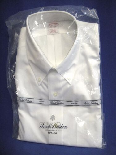 Brooks Brothers Solid White Traditional Button-down Shirt 16 1/2 - 34 / New