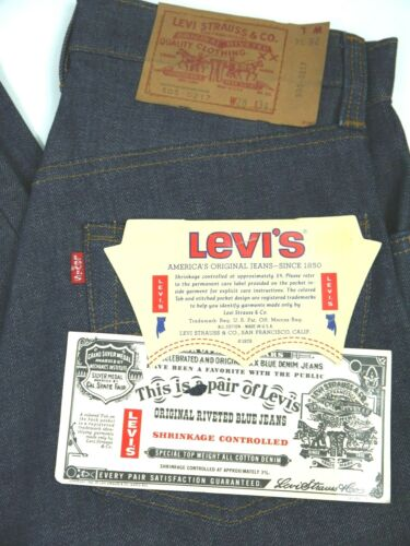 Vintage 70s Levis 505-0217 Jeans Mens 28x34 NWT Raw USA Denim NOS Deadstock
