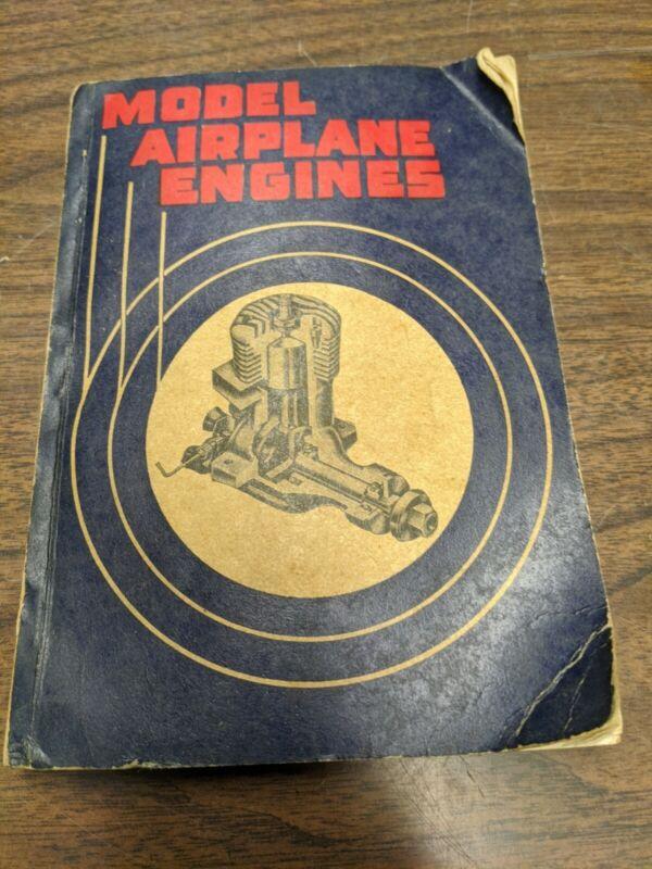 Model Miniature Airplane Engines by Robert Weinstein 1946  Vintage Rare Book