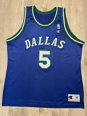 VTG Champion Jason Kidd Jersey Dallas Mavericks NBA #5 - Vintage 90s Size 48