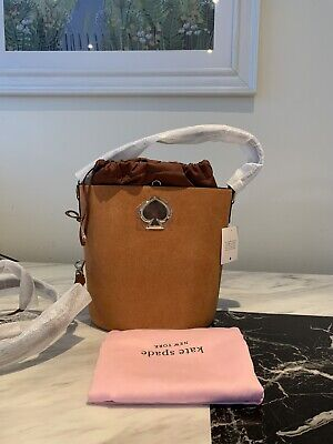 kate spade new york Suzy Suede Leather Bucket Bag Brown