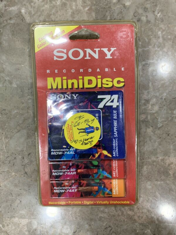 Sony Recordable MiniDisc (mini Disc) 3 Pack  MDW-74 Colors