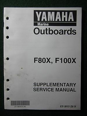 1999 Yamaha Outboard Service Repair Shop Manual Supplement F80X F100X DEALER