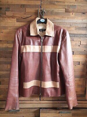 "Vintage Leather Jacket, Biker Style 42"" (12-14), Senti London."