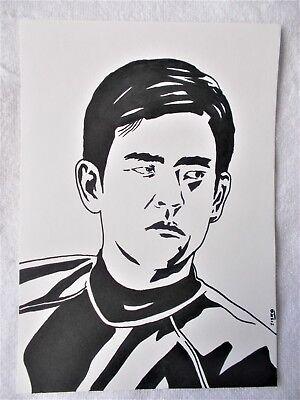 A4 Art Marker Pen Sketch Drawing John Cho as Hikaru Sulu from Star Trek Poster
