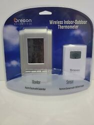 Oregon Scientific Wireless Indoor Outdoor Thermometer Alarm Clock