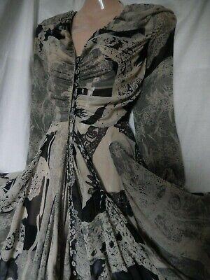 ALL SAINTS Sadik Dress Silk Bustle Hitched Parachute Steampunk Gothic 6 34 US 2