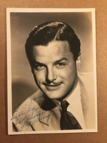 Gig Young Rare Early Vintage Original Autographed Photo They Shoot Horses 1940s