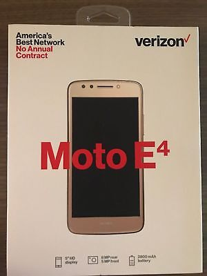 Verizon Prepaid  - Motorola Moto E4 4G LTE with 16GB Memory  Cell Phone GOLD