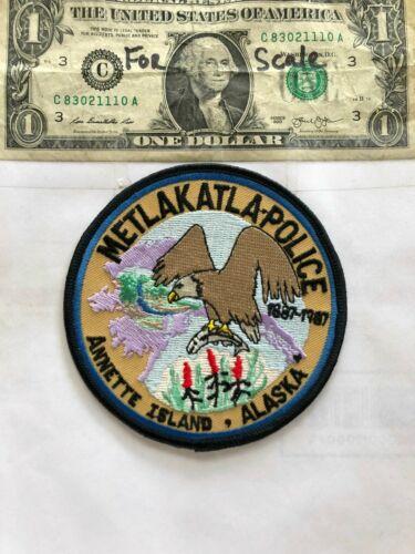 Metlakatla Alaska Police Patch (Annette Island) Un-sewn great shape