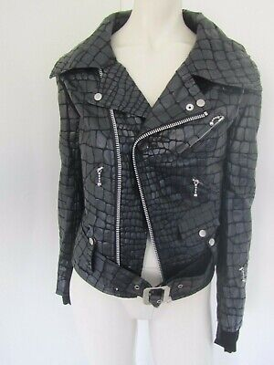 New Junya Watanabe Comme des Garcons Reworked Faux Croc Biker Jacket