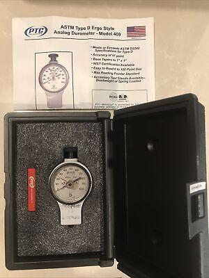 Ptc Instruments Model 409 Type D Astm D2240 Ergo Analog Durometer