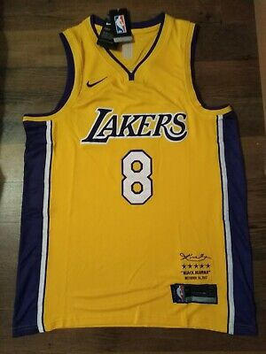 Kobe Bryant 8 L.A Lakers Retirement Night Jersey. Size L