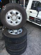 Toyota Hilux 6Stud Rims and near new tyres $400 Underwood Logan Area Preview