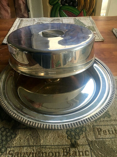 Rare Vintage Silverplate charger + plate cover Berkely Hotel ✰✰✰✰✰ London