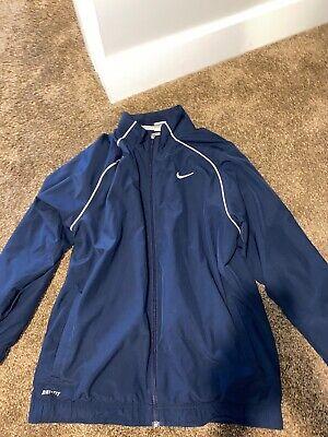 Men's Size Medium Dri-fit Nike Jacket Navy Blue