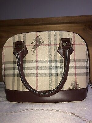 Vintage Burberry Bag In Nova Check