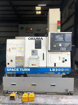 Okuma Space Turn Lb200 Cnc Lathe Turning Center 2003 Gmt-2484
