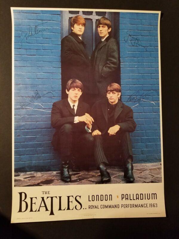 the BEATLES poster 1964 LONDON PALLADIUM Royal Command Performance NEMS ORIGINAL