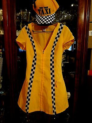 HALLOWEEN COSTUME FAB New York City Taxi Sexy S XS Yellow Black Driver's - Dream Girl Ny