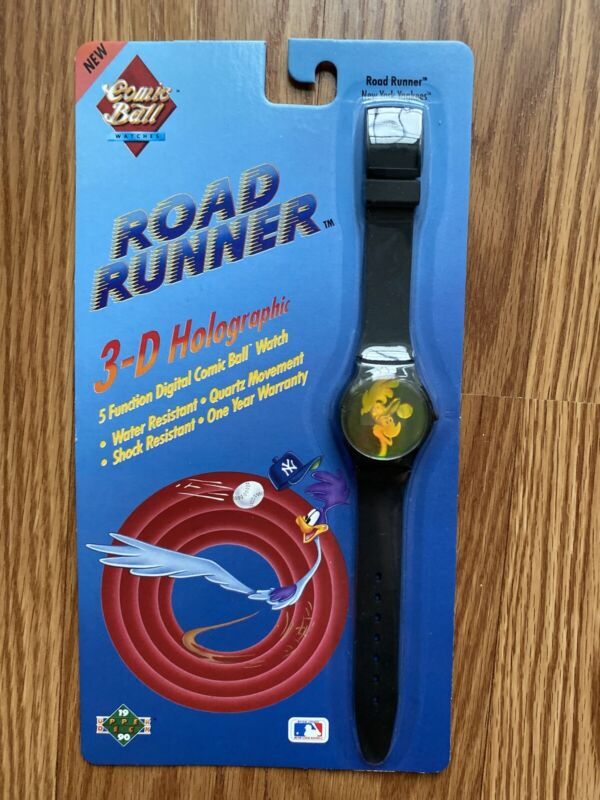 VTG Road Runner Holographic Digital Watch Comic Ball 1990 New York Yankees 1990