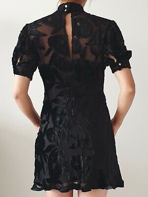McQ by Alexander McQueen Velvet Dress with Slip and Button Detail