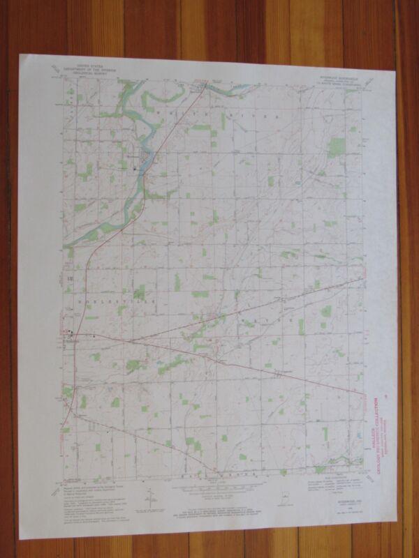 Riverwood Indiana 1971 Original Vintage USGS Topo Map