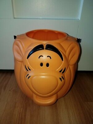 Vintage Halloween Walt Disney Winnie The Pooh Tigger Candy Blow Mold Bucket