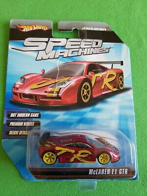 2010 Hot Wheels Speed Machines MCLAREN F1 GTR Red RIPPED CARD