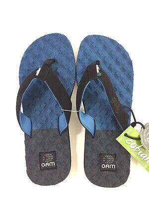 Cobian OAM Traction  Size 11 Mens Blue Two Tone Textured Flip Flops Sandals Cobian Mens Sandals