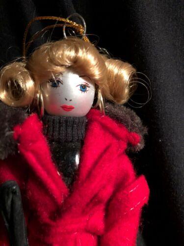 "Vtg. Lord & Taylor Glass Artisans Shop Girl Lady Christmas Ornament Carlini ? 8"""