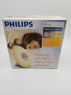Philips Wake Up Light Sunrise Simulation Alarm Clock Radio HF3500 HF3500/60 OB