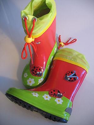 Marienkäfer Stiefel (Kinder Regenstiefel Gummistiefel Marienkäfer)