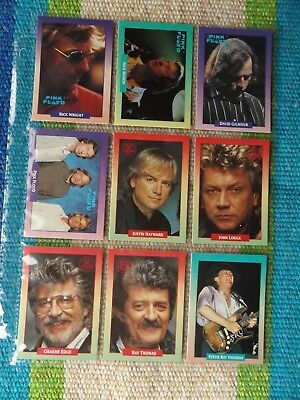 Lot of 9 Pink Floyd & Moody Blues & Stevie Ray Vaughan subsets 1991 Rock Cards