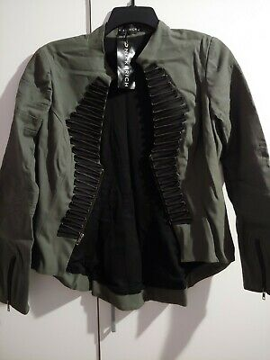 Ringleader Jacket (LARGE Steampunk Gothic Ringleader Burlesque  Military Uniform Victorian)