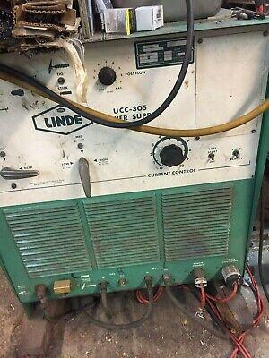 Linde Model Ucc-305 208230460v 1ph 300 Amp Arctig Welder Wfootpedal