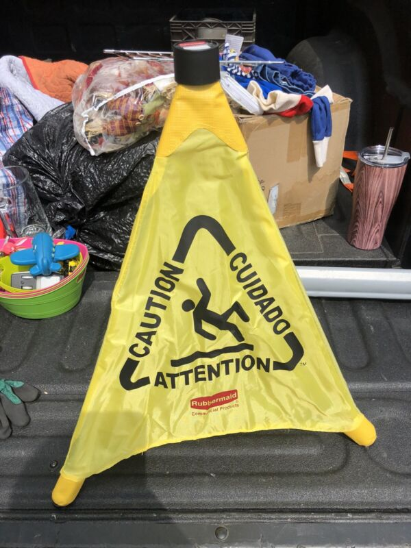 Rubbermaid Pop Up Safety-cone Multilingual, collapsible, tube for storage